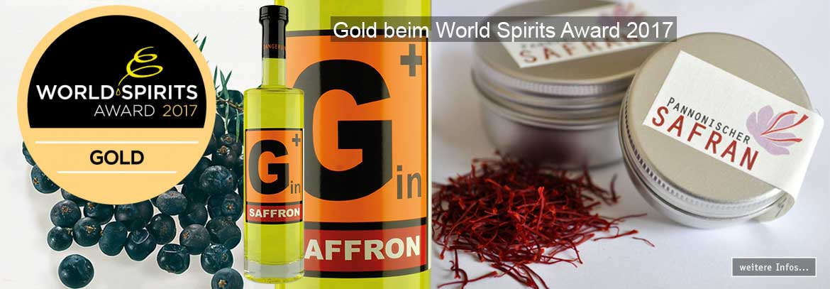 Gold für den Safrangin - World Spirits Award 2017